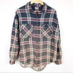 Excote Mattie Flannel Shirt Jacket Size M-L